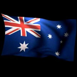 3D Rendering of the flag of Australia waving in the wind.