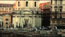 Santissimo Nome di Maria al Foro Traiano at dusk