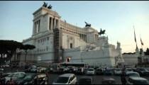 Altare della Patria with traffic passing