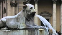 Footage of the lion fountain near Piazza del Popolo