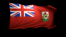 3D Rendering of the flag of Bermuda waving in the wind.