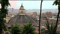 Shot of the city of Rome