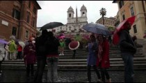Tourists admiring the Trinit