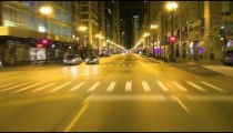 Driving down the city street