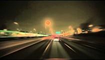 Vehicle travels at night