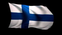 3D Rendering of the flag of Finland waving in the wind.