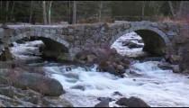 River under stone bridge