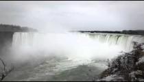 Front view of Horseshoe falls at Niagara falls