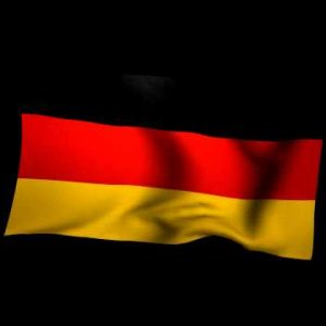 3D Rendering of the flag of Germany waving in the wind.