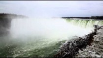Horseshoe falls at Niagara Falls in winter