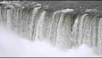 Waterfall and mist at Niagara Falls.
