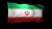 3D Rendering of the flag of Iran waving in the wind.