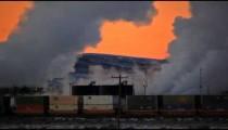 Smoke Stacks and Train