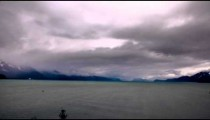 Time-lapse of storm clouds moving over the Gulf of Alaska.