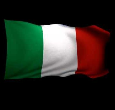 3D Rendering of the flag of Italy waving in the wind.
