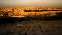 Sunrise time-lapse from the Mount of Olives overlooking the Dome of the Rock.
