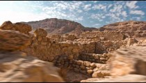 Daytime time-lapse of the ruins at Qumran.