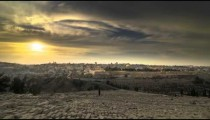 Time-lapse from the Mount of Olives overlooking the cemetery towards the Dome of the Rock