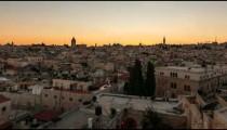 Time lapse of sunset over Jerusalem rooftops