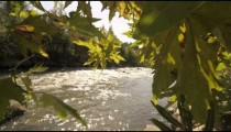 Moving time lapse of Jordan River on a sunny day