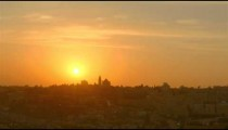 Sunset time-lapse of Jerusalem from the Mount of Olives