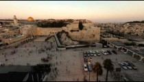 Dome of the Rock time-lapse from the Jewish Quarter at sunset.