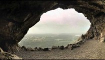 Time-lapse looking out of a cave in Israel.
