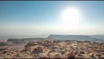 Daytime time-lapse at Masada, Israel.