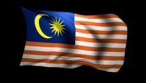 3D Rendering of the flag of Malaysia waving in the wind.