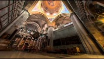 Low-angle time lapse of room in Church of the Holy Sepulchre