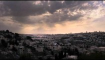Time-lapse of the city and sun rays from the BYU Jerusalem center.