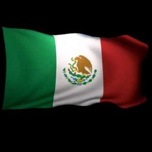 3D Rendering of the flag of Mexico waving in the wind.