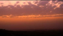 Sky time-lapse in Isreal just around dusk.