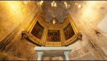 Tracking footage approaching the Greek Orthodox chapel of St. Longinus