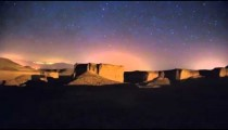 Time lapse of moving cosmos in the night sky