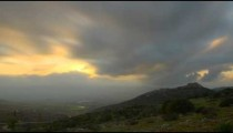 Evening sunset time-lapse in the hills near Nimrod, Israel