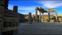 Time-lapse of a stone ruins at Korazim, Israel.