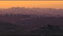 Time-lapse of Bethlehem at sunset.