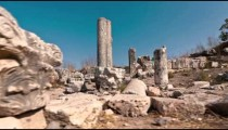 Moving time-lapse of ruins on Mount Arbel, Israel.