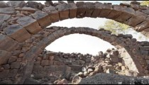 Tracking time lapse under stone arches