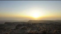 Sunrise time-lapse at Masada