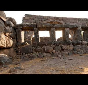 Time-lapse of a stone wall structure at Korazim, Israel.