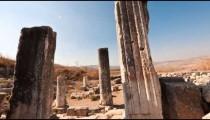 Time-lapse of ruins on Mount Arbel, Israel.