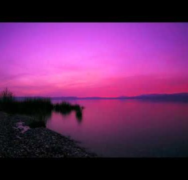 Tracking time lapse of the Sea of Galilee during a dramatic sunset