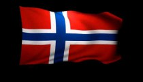 3D Rendering of the flag of Norway waving in the wind.