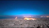 Night time-lapse at Masada.