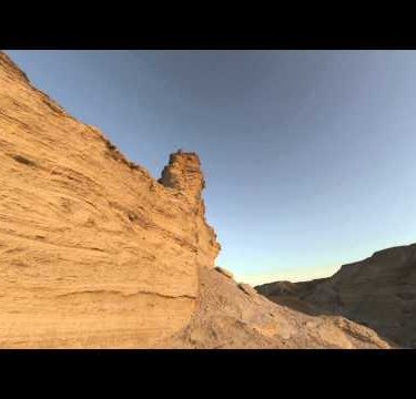 Shot of a tracking time-lapse of rock formations in Israel.
