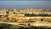 Time lapse of sunrise and shadows over Jerusalem