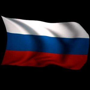 3D Rendering of the flag of Russia waving in the wind.