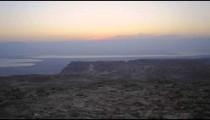 Time-lapse at sunrise in Masada, Israel.